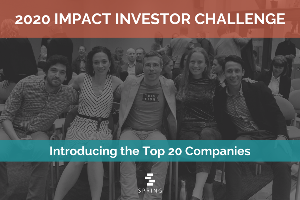 2020 Impact Investor Challenge Top 20 Announcement