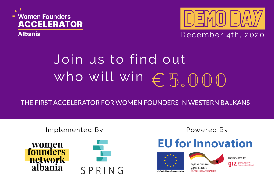 Women Founders Accelerator Albania Program Participants