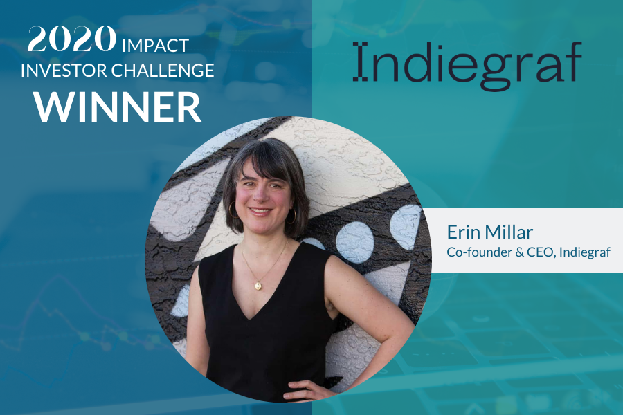 Indiegraf, winner of the 2020 Impact Investor Challenge