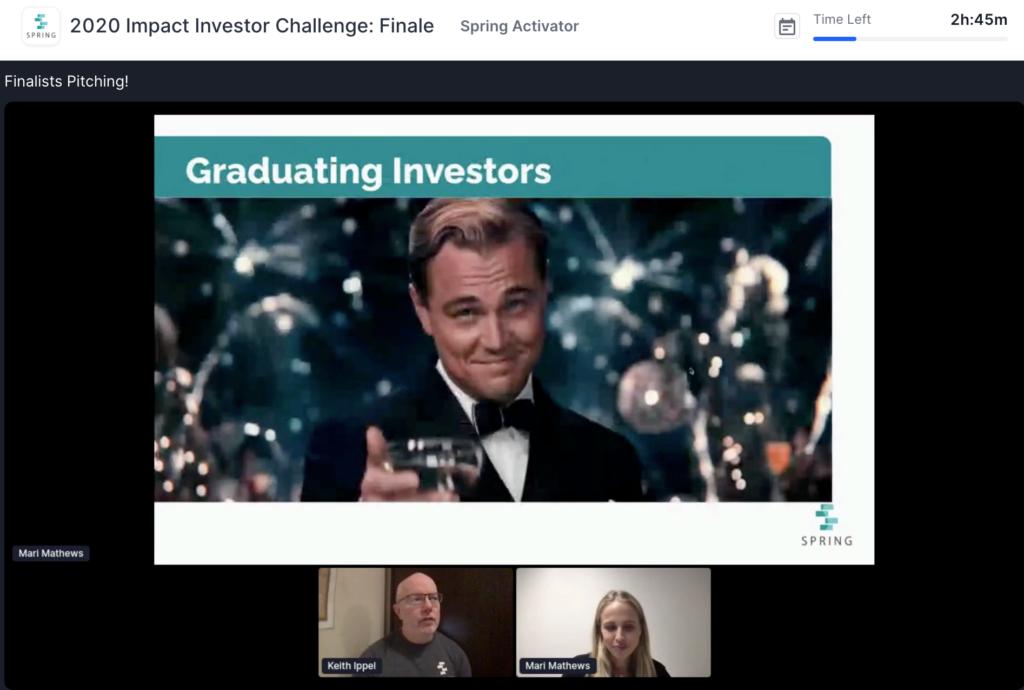 2020 Impact Investor Challenge Graduating Investors