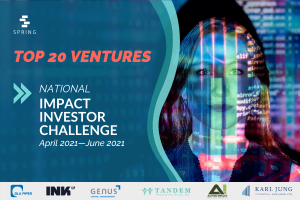 2021 National Impact Investor Challenge Top 20 Ventures