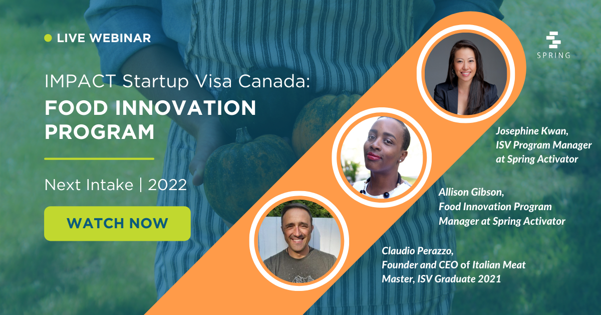 IMPACT Startup Visa Food Innovation Accelerator - Watch Now Banner