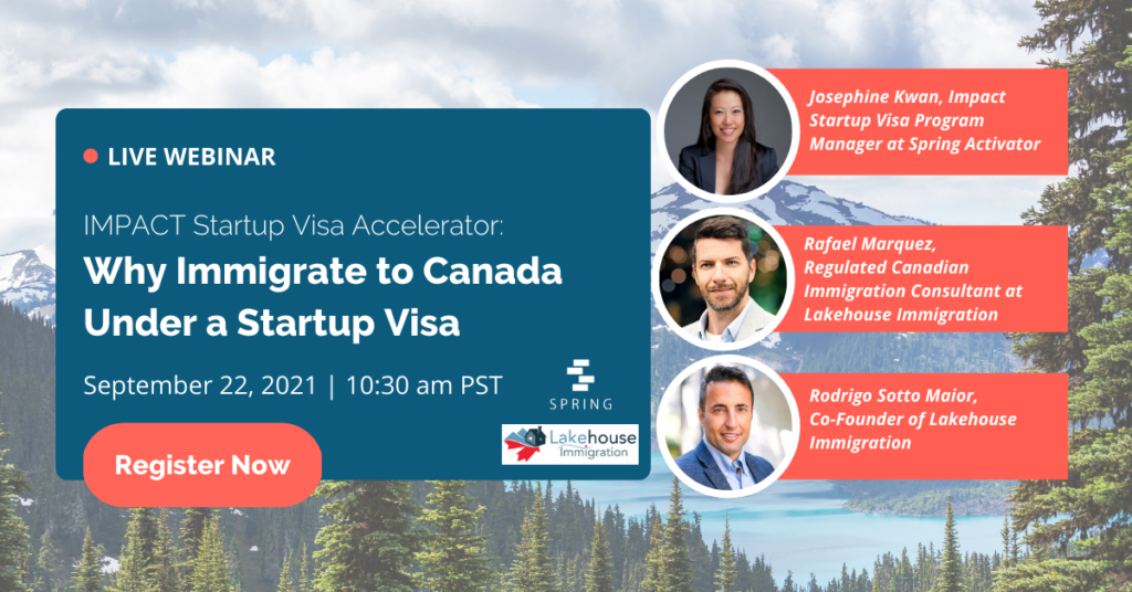 Impact Startup Visa Info Session Banner Design