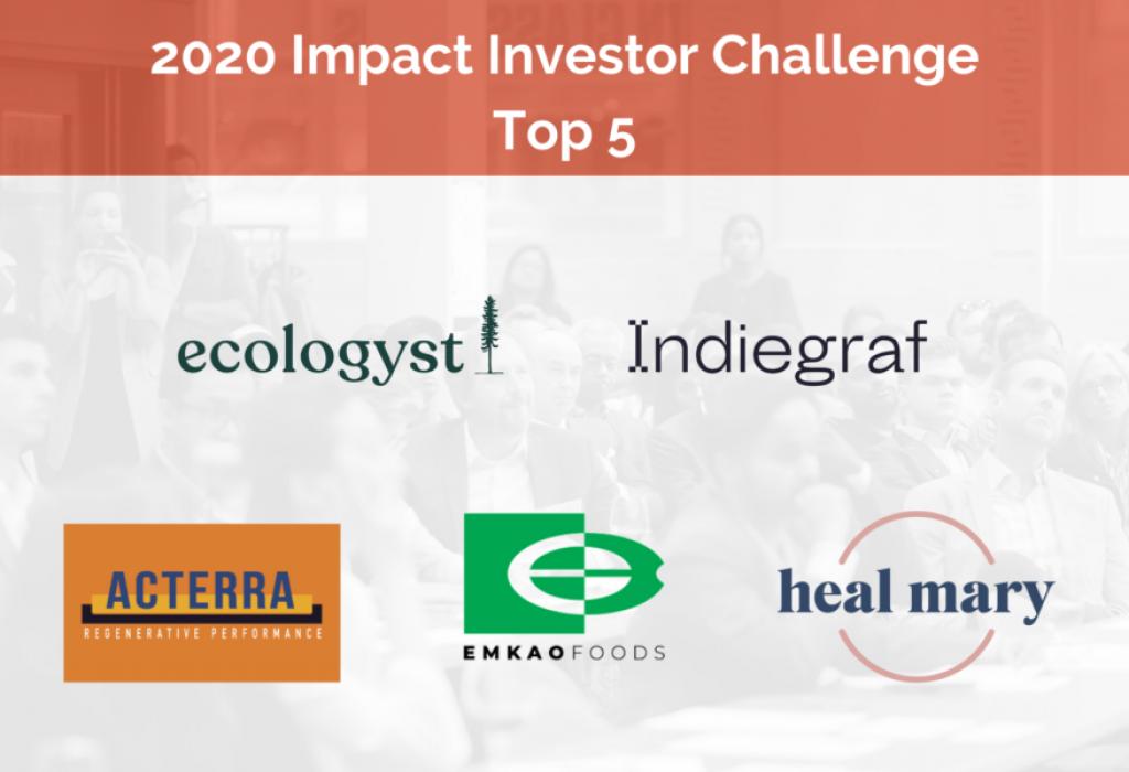 Impact Investor Challenge 2020 Top 5 Ventures
