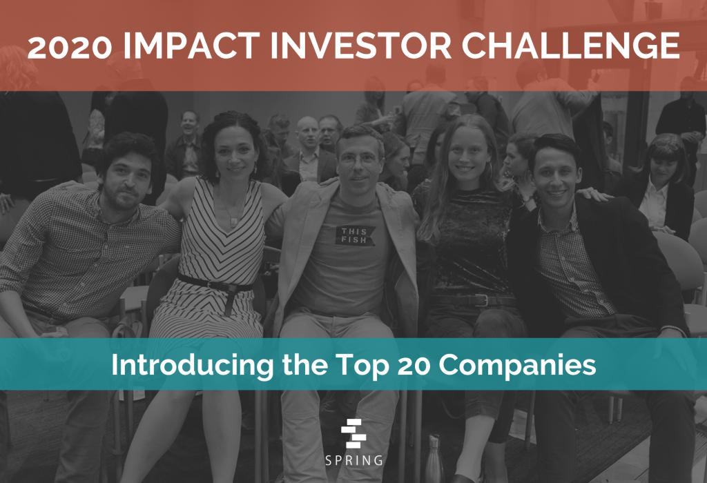2020 Impact Investor Challenge Top 20 Announcement